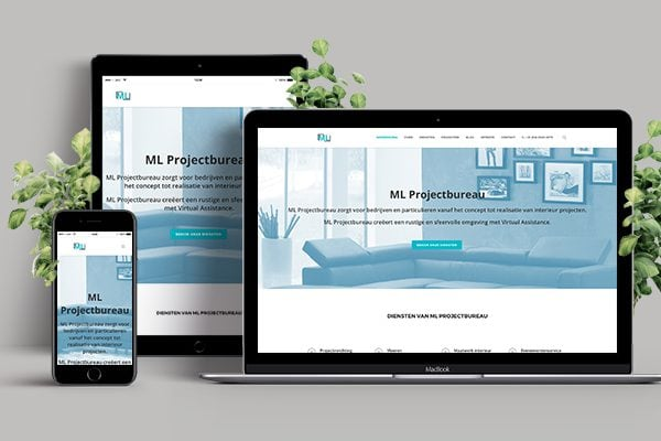 Bekijk de case over ML Projectbureau - WordPress website ontwikkeling, webhosting en domeinnaam registratie - JKC Media, uw digitale partner