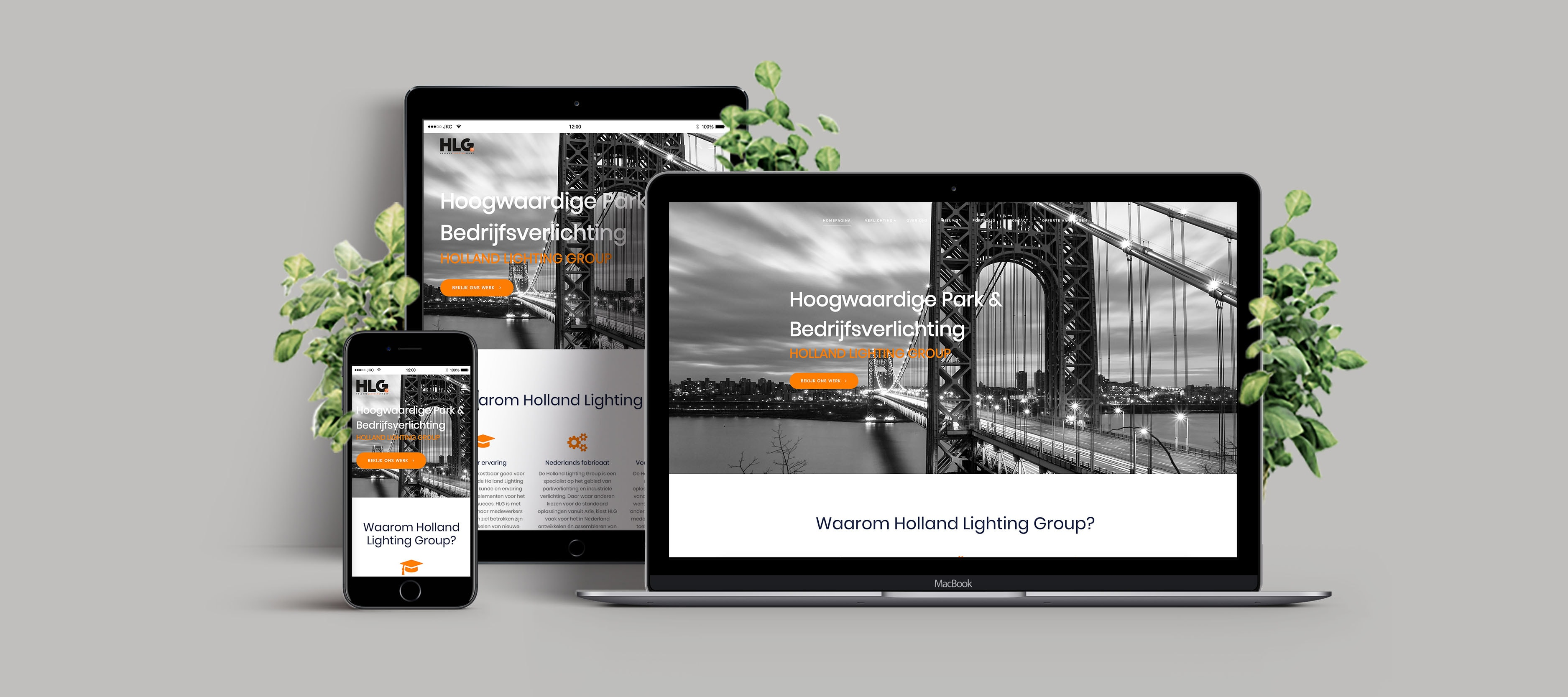 Bekijk de case over de nieuwe website voor Holland Lighting Group B.V. - WordPress website ontwikkeling en webhosting - JKC Media B.V.